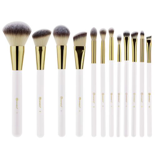 a5f9fbcd7525b BH Cosmetics Studded Elegance 12 Piece Brush Set White at BEAUTY BAY