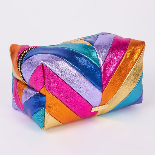 Skinnydip Rainbow Chevron Makeup Bag at BEAUTY BAY d561a12f9ac20