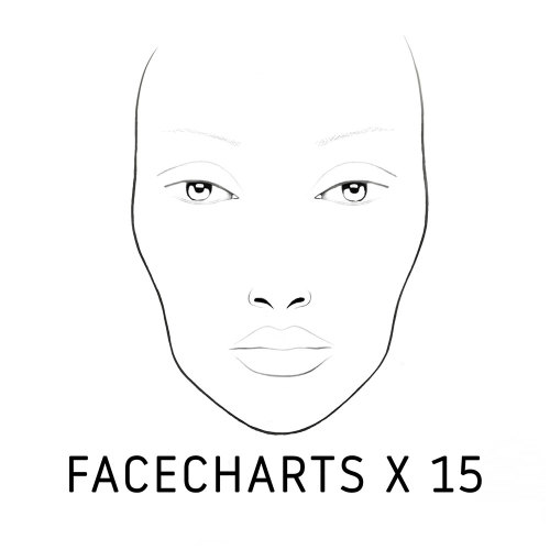 Mykitco my face by my kit co face charts 15pieces at beauty bay