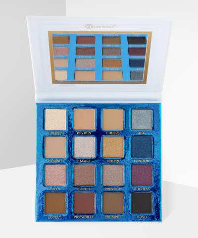bh cosmetics love in london 16 color shadow palette at