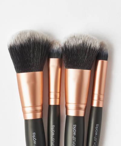 brushworks travel makeup brush set at beauty bay