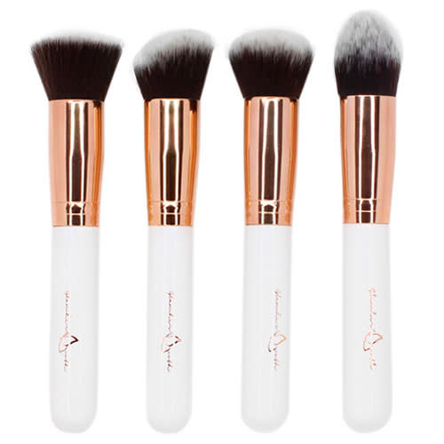 Shoptagr | 4 Piece Rose Gold Kabuki Face Brush Set by