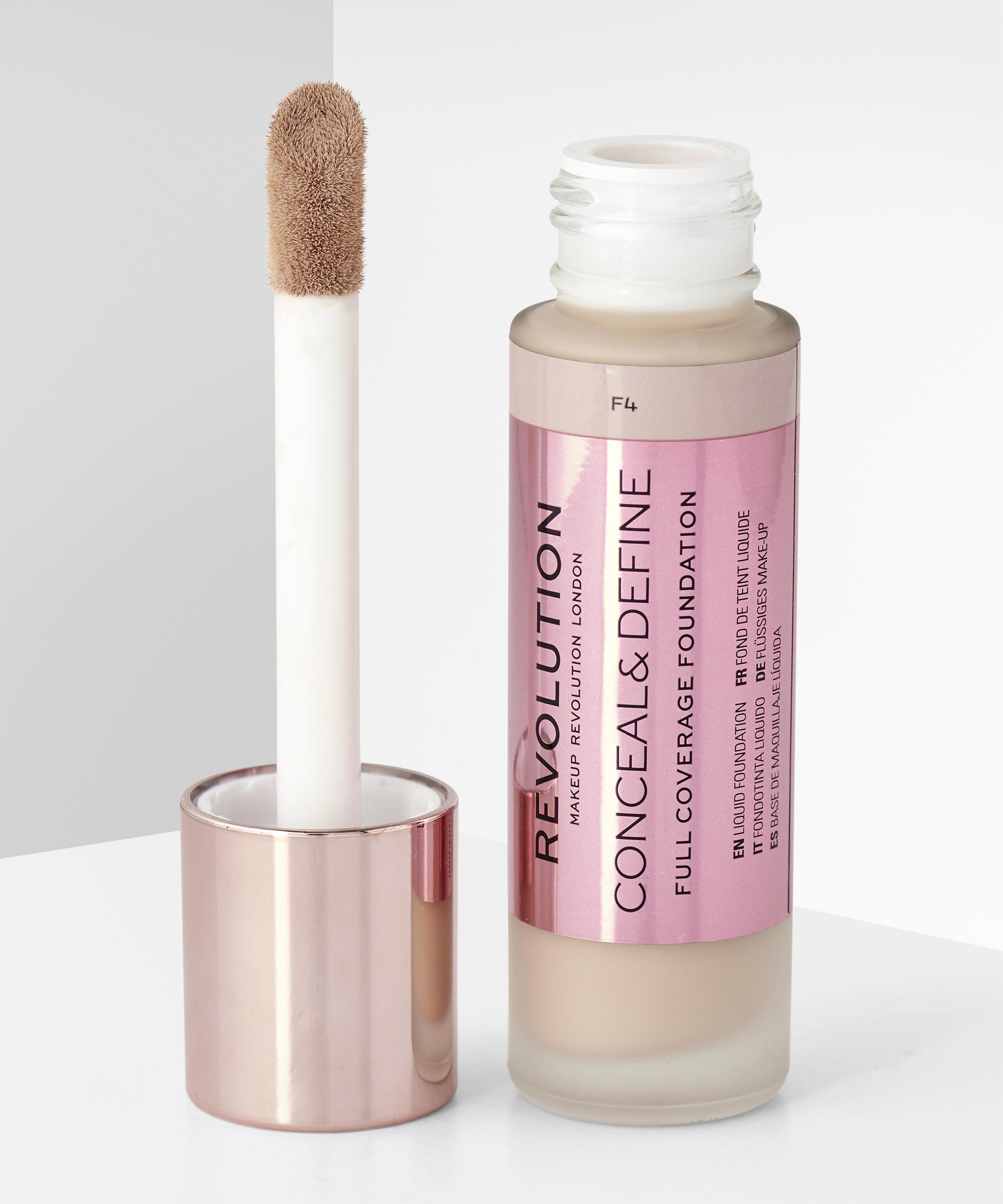 Makeup Revolution Conceal Define Foundation F4 At Beauty Bay