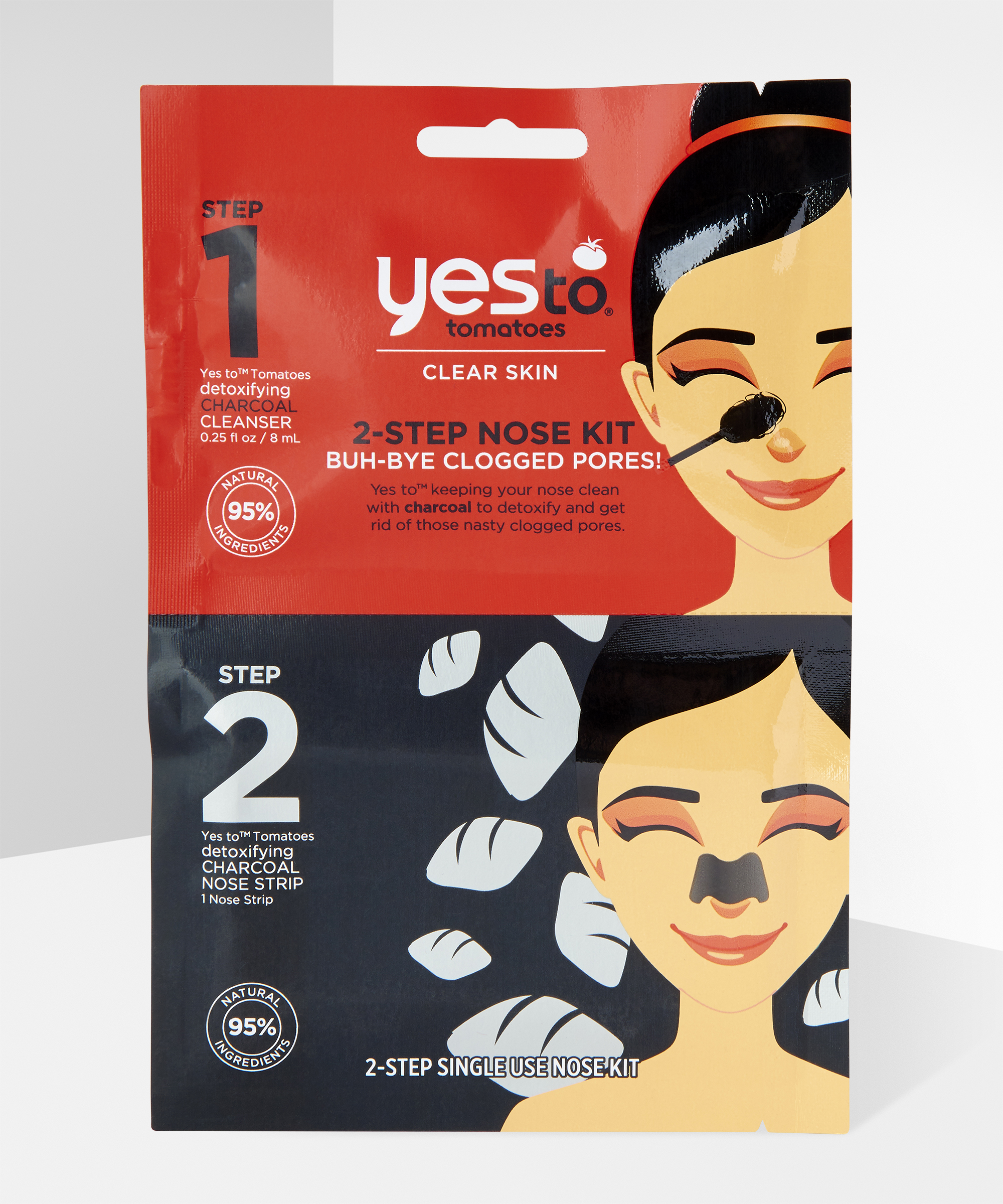 Tomatoes 2-Step Buh- Bye Blackheads Nose Kit