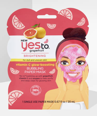 Yes To - Grapefruit Single Use Bubbling Paper Mask